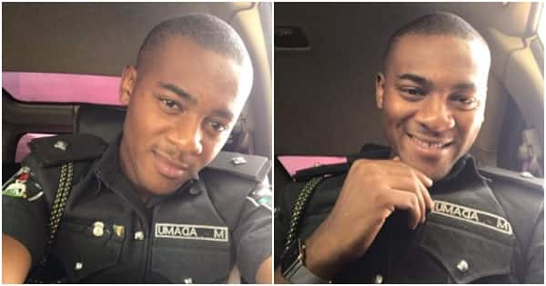 Handsome Nigerian police officer Mukthar Adamu sets social media on fire