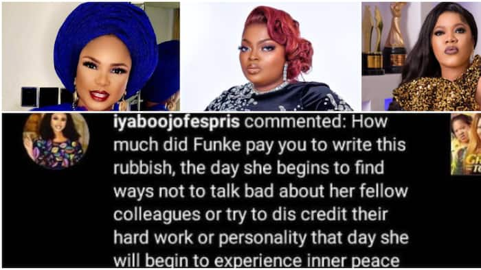 Iyabo Ojo blasts Funke Akindele, accuses her of paying blogger to condemn Toyin Abraham's new movie