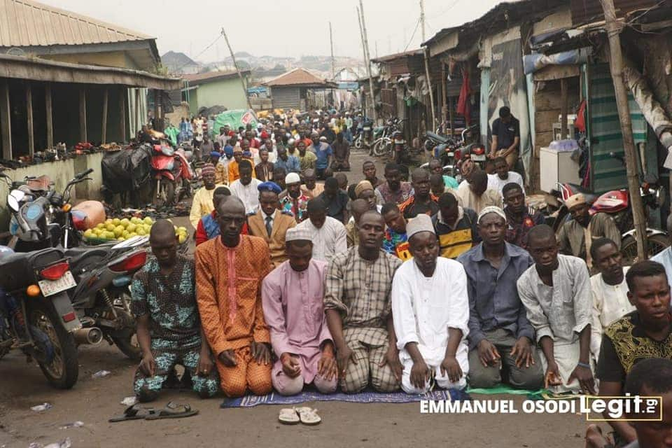 Sights of Eid celebration in Kara area of Ogun state