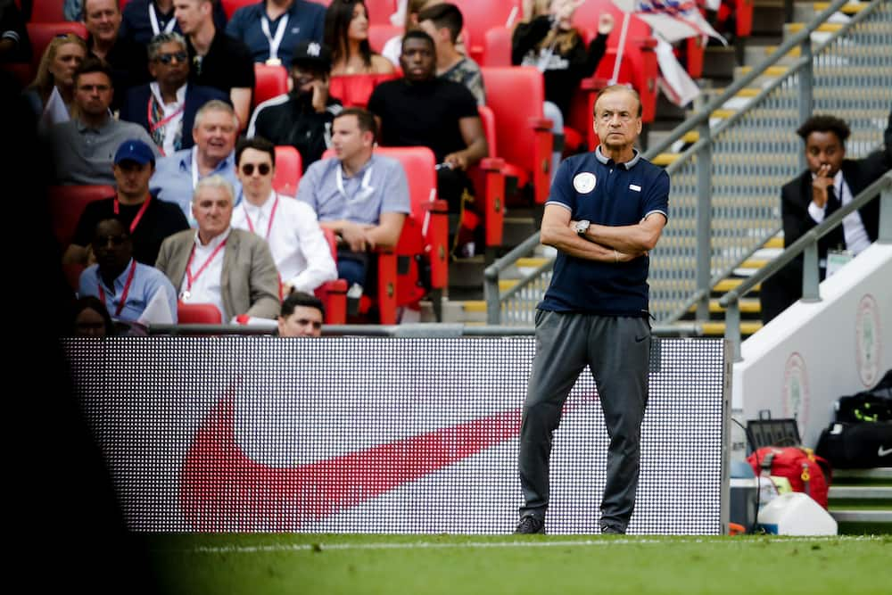Super Eagles coach Gernot Rohr in action