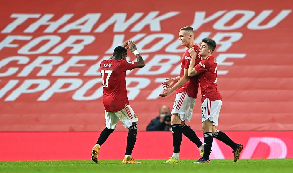Scott McTominay and teammates in action for Manchester United.