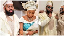 Banky W's younger brother Funmi Wellington holds introduction ceremony with fiancee