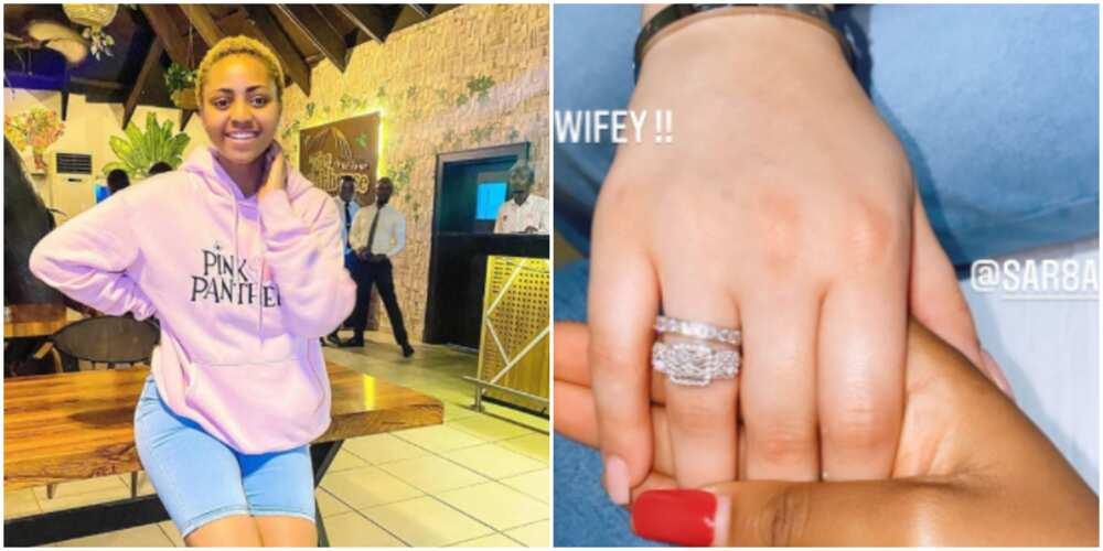Nollywood actress Regina Daniels flaunts new wifey (photo)