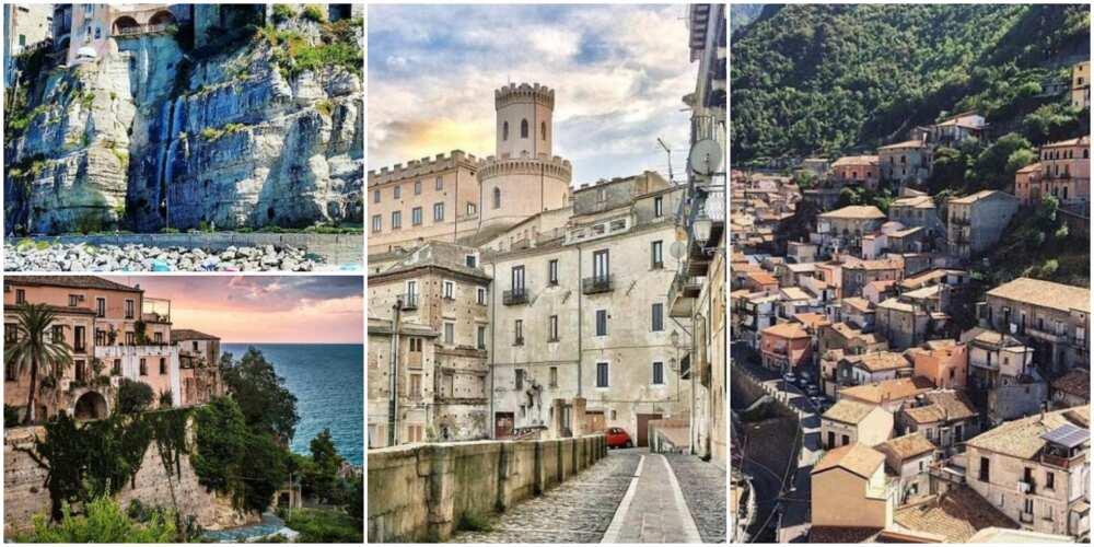 Calabria: Hotunan gari a Italy da zasu bada N13.6m ga masu son komawa da zama