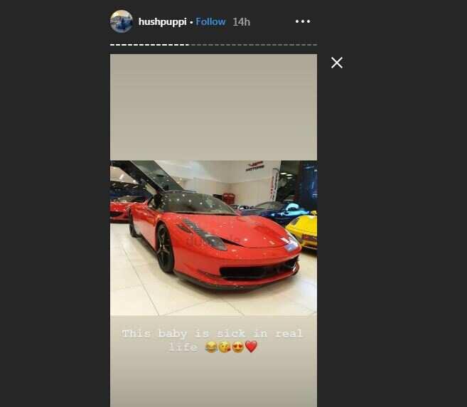 Nigerian Big Boy Hushpuppi acquires brand new Ferrari