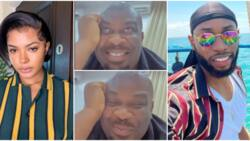 Don Jazzy joins 'shippers' association, blushes as he watches Liquorose and Emmanuel on their date