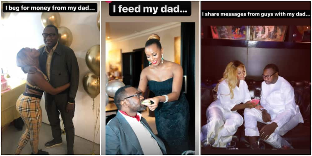 DJ Cuppy's dad is always present for her important wins