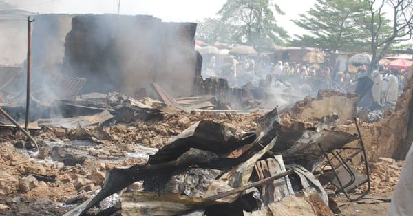 Tension as youths set fire on cow market in Oyo state