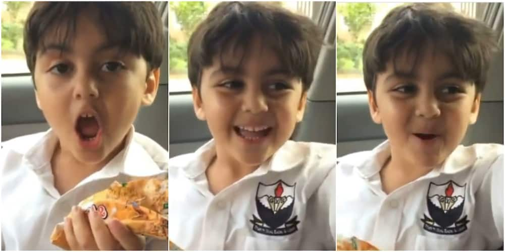 The little boy's video cracked people up on social media