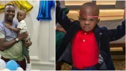 Actor Femi Adebayo Salami celebrates as his adorable son clocks 2 (photos)