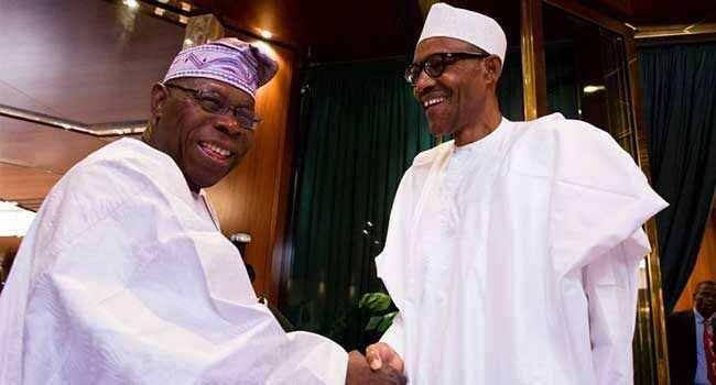 Shugaba Buhari tare da Obasanjo