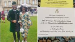 Adesua Etomi's mum celebrates her invitation to tea party by Queen of England (photo)