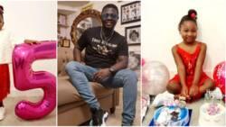 Mummy's answered prayer, daddy's exact print: Comedian Seyi Law celebrates 1st daughter Tiwaloluwa at 5