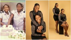 Pretty Nigerian twins mark their birthday with fine photoshoot, share throwback childhood picture