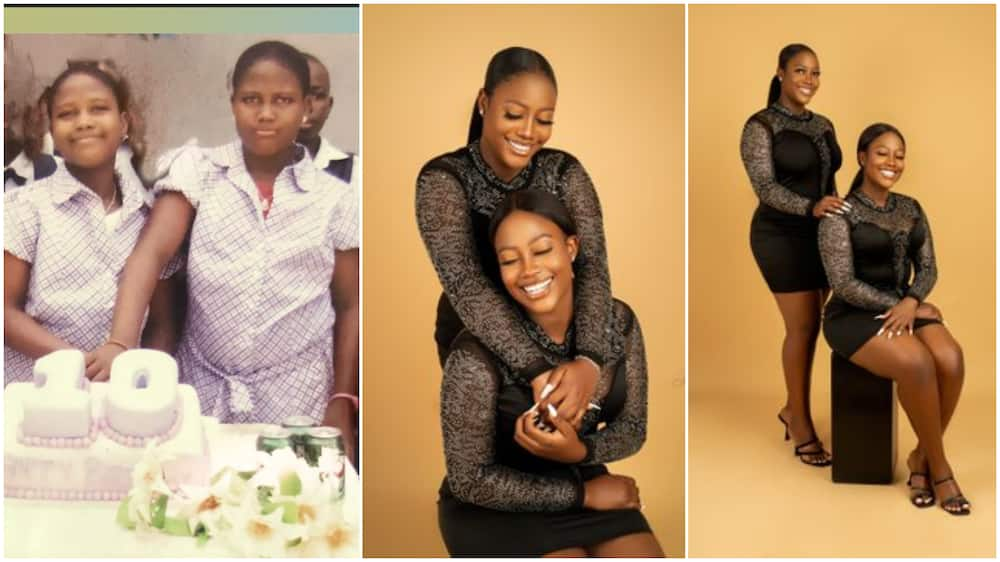 Pretty Nigerian twins mark their birthday with fine photoshoot, shares throwback picture