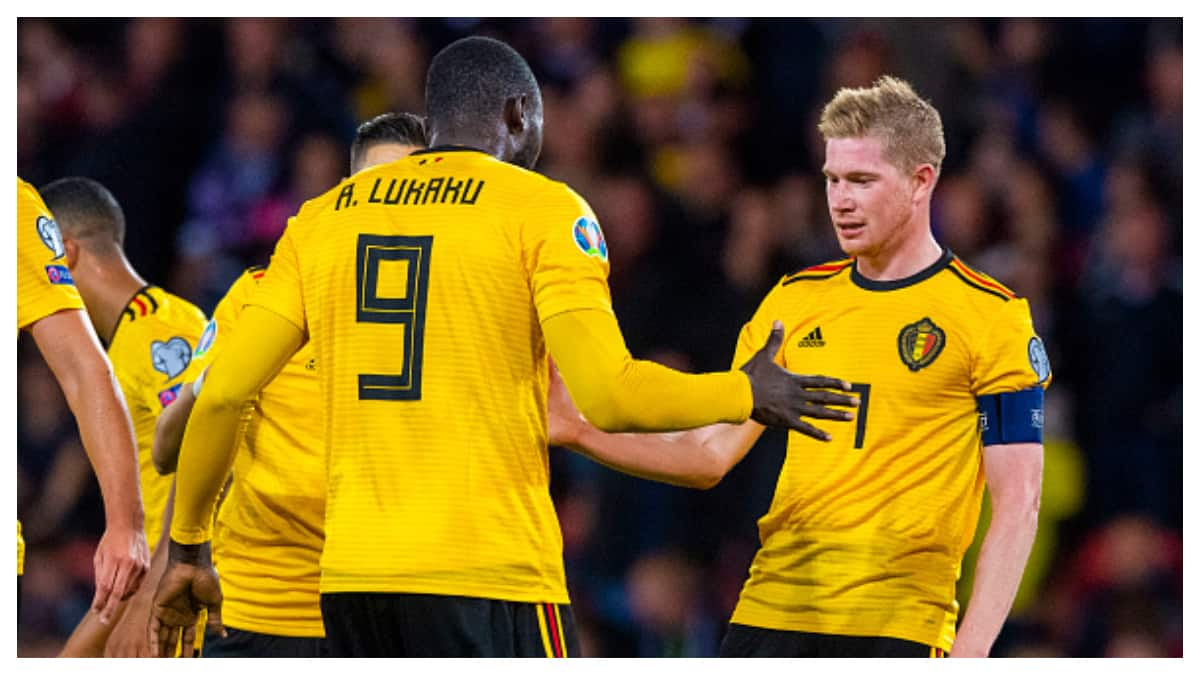 De Bruyne gives 3 assists, scores as Belgium beat Scotland 4-0 in Euro qualifier