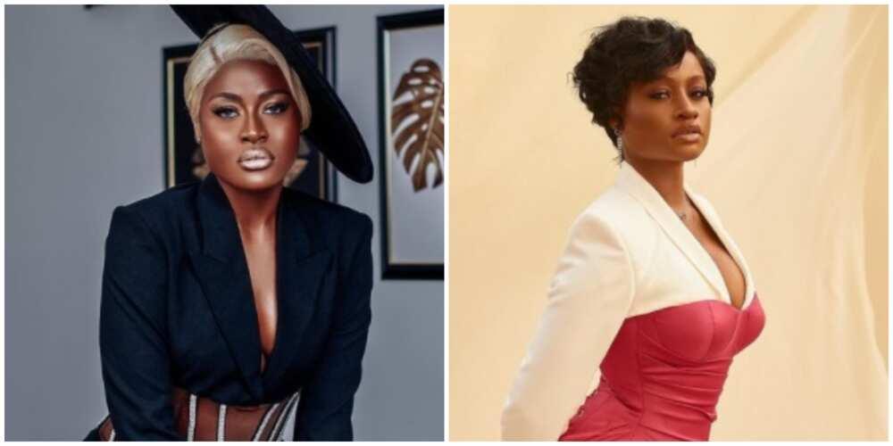 Photos of BBNaija Alex Unusual and Anita Adetoye.