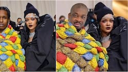 Met Gala 2021: Fans react as Don Jazzy crops out Rihanna's lover, photoshops himself beside US singer