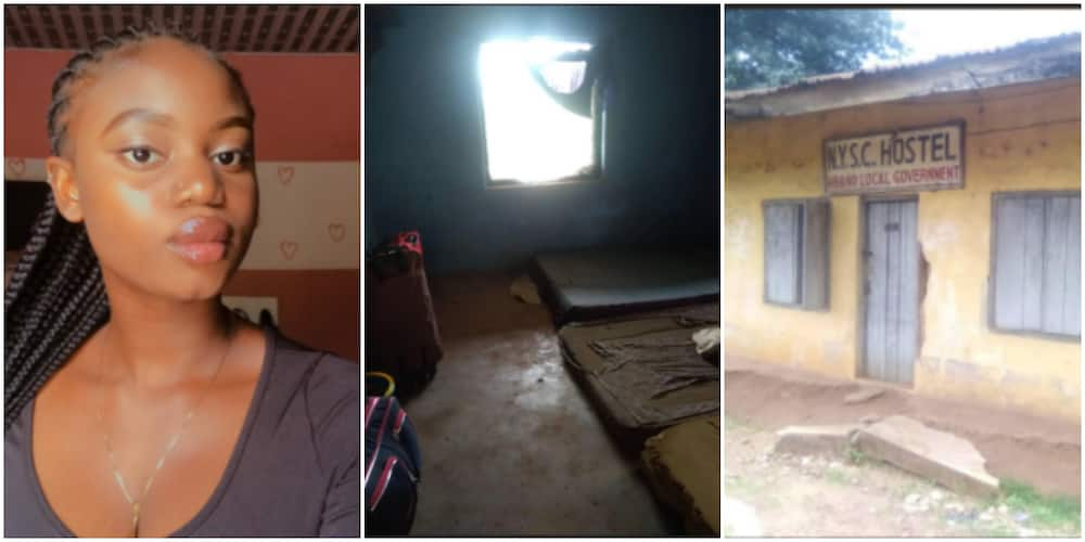 Reactions as Corper Shares Photos of Shabby Building Used as NYSC Hostel in Imo state