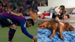 Lionel Messi shares awesome photo of himself and kids playing with their dog