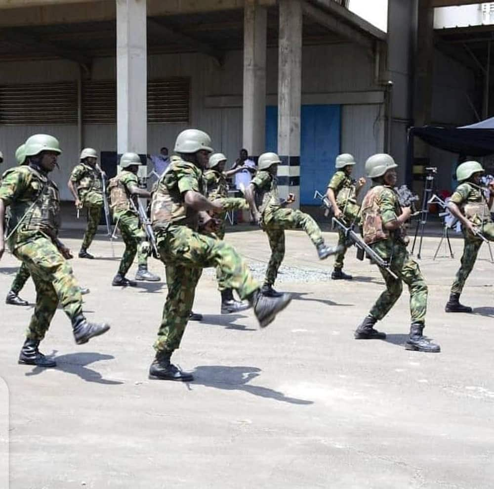 Military troops