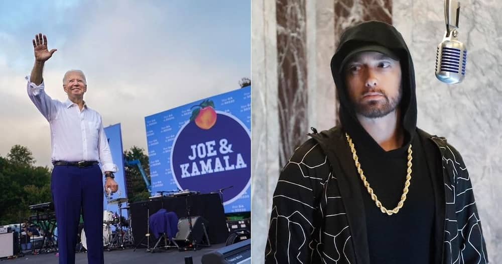 Eminem lends support to Joe Biden ahead of US presidential election