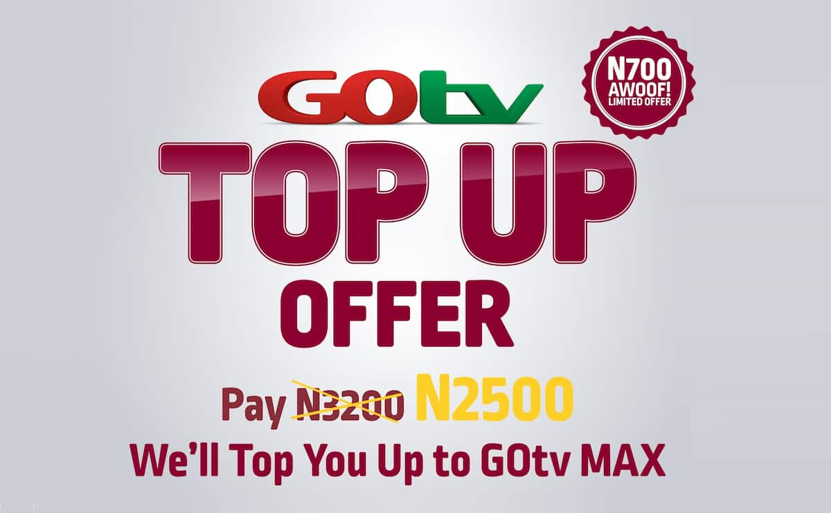 Step up to GOtv Max with the new 'GOtv Top Up'