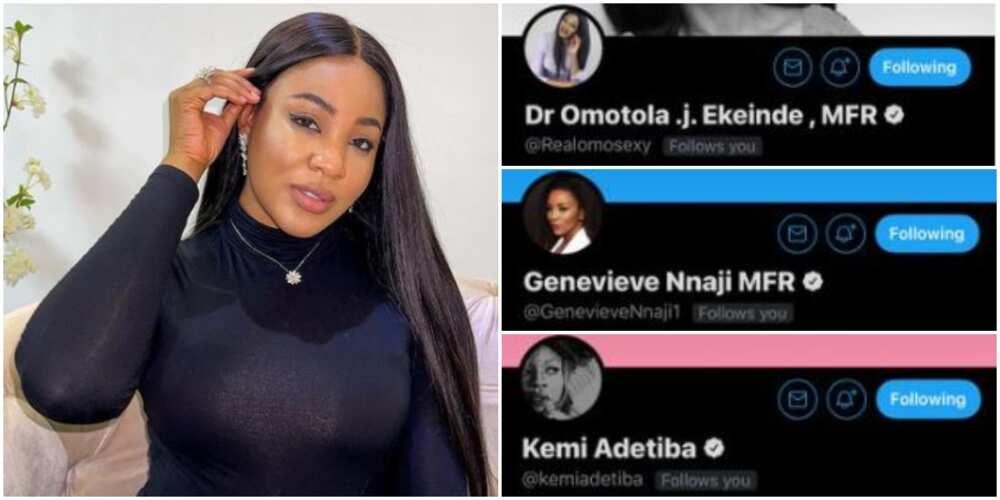 I Brag Different, BBNaija's Erica Says as Top Nigerian Celebrities Follow Her on Twitter