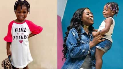 Many react as real price tag of Imade's cloth bragged about by Davido's first baby mama is discovered