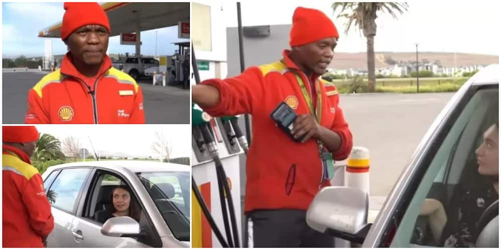Filing station worker stunned with cash covering his salary for the next 8 years after paying for lady's fuel