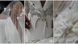 Timeless and exquisite: Viral video of couture suit wedding dress leaves many in awe