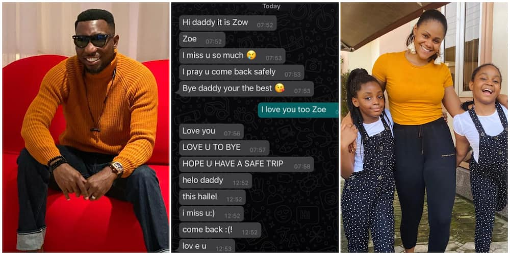 We miss you dad! Timi Dakolo shares sweet messages he got from daughters while away from home