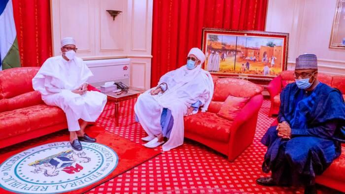 Hotunan ziyarar Shehu Dahiru Usman Bauchi zuwa fadar shugaba Buhari