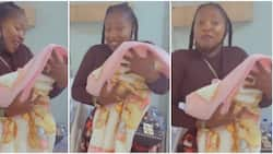 She likes when I rock her like this: Actress Anita Joseph gives sneak peek of Uche Ogbodo's baby