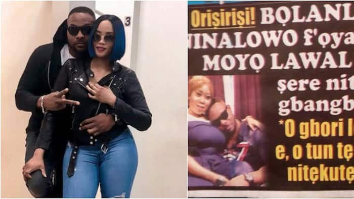 Handsome actor Bolanle Ninalowo speaks on wife's reaction to his trending cosy photo with Moyo Lawal