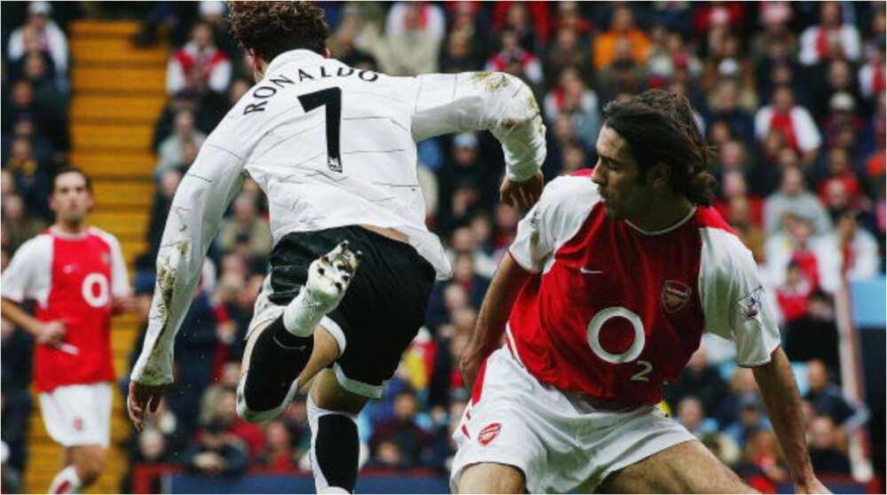 Former Arsenal Striker Reveals What Ronaldo Was Subjected to When Ex-man Utd Winger Tried Tricks vs Gunners