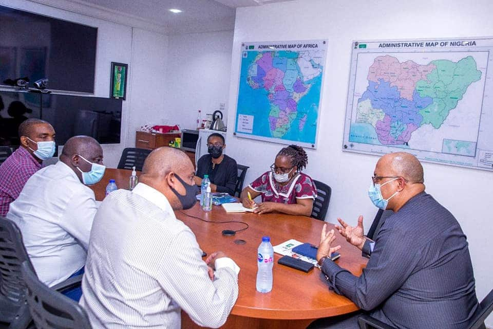 NCDC's DG and other top officials in a crucial meeting