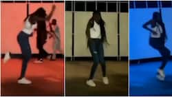 She's on fire: Lady displays amazing dancing skills with fast legwork that get people screaming in cute video