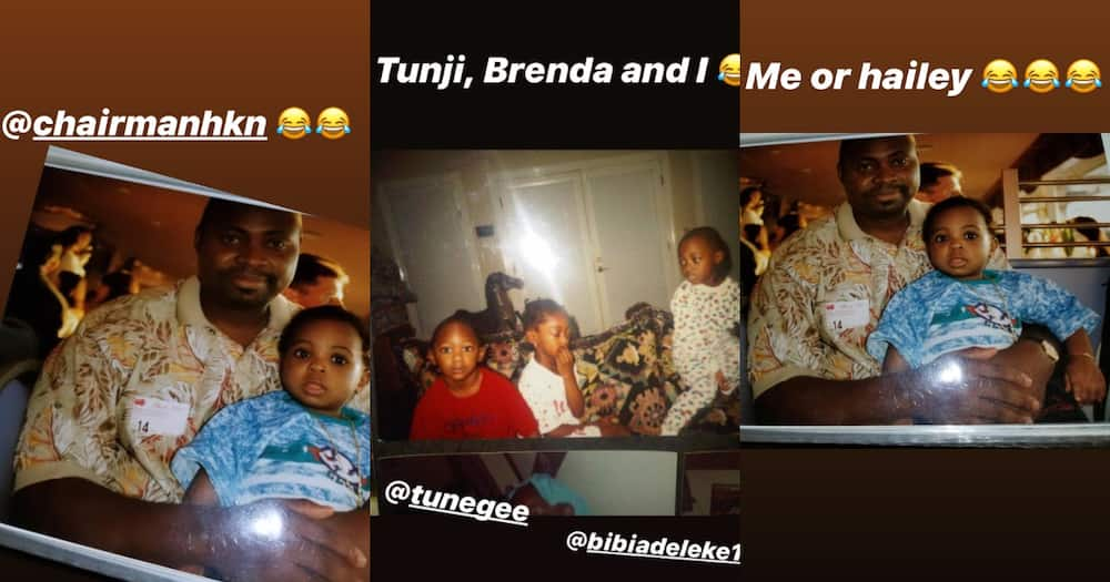 Davido shares throwback pictures of him and his family