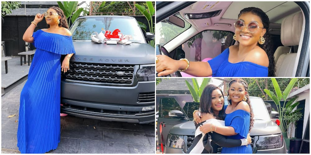 Actress Mercy Aigbe surprised with a brand new Range Rover HSE as birthday gift