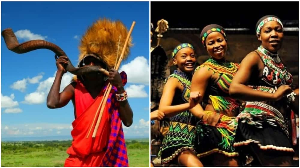 A collage showing Africans in different cultural attires. Photo source: HowAfrica/AfricaConnect