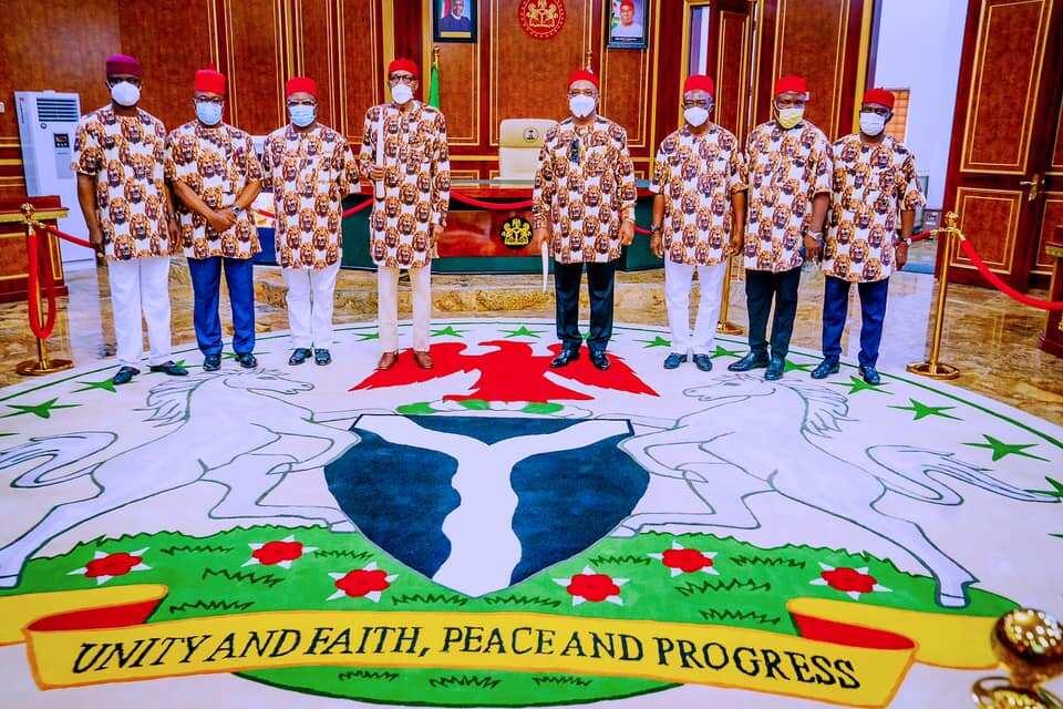 Fadar Shugaban kasa ta saki hotunan ziyarar da Buhari ya kai Owerri, jihar Imo