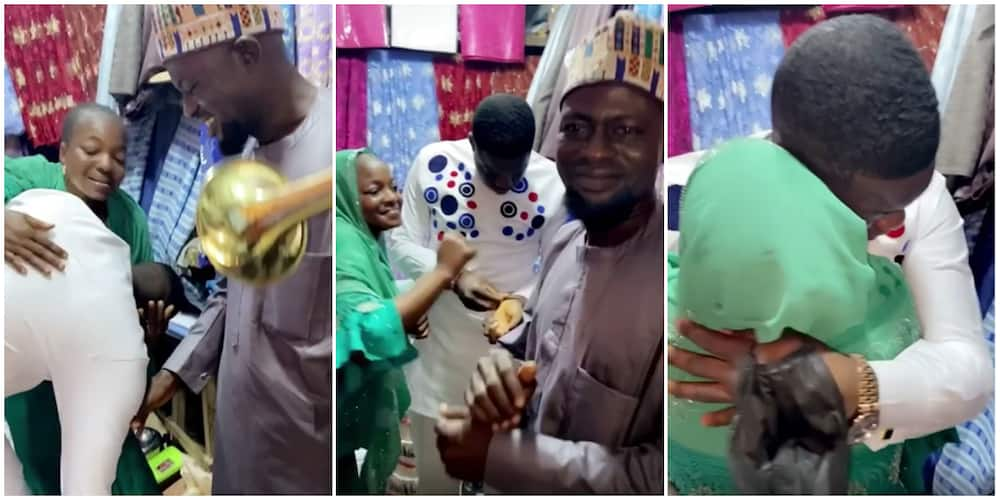 Comedian Cute Abiola breaks down in tears during surprise birthday visit to his parents