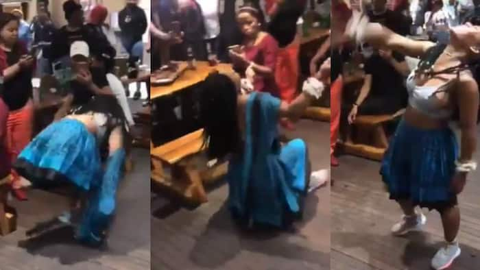 Young lady thrills crowd with crazy dance moves in trending video, stirs massive reactions
