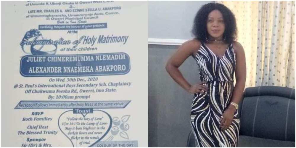 Juliet Nlemadim - Nigerian lady dies days before her wedding