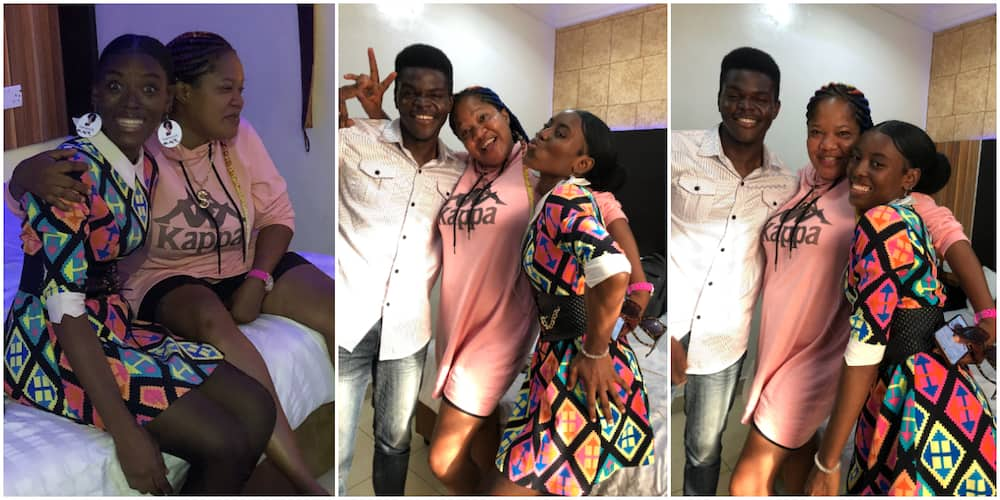 Heart-melting Moment Lady Finally Met Toyin Abraham Months After Actress Gave Her Money for Sewing Machine