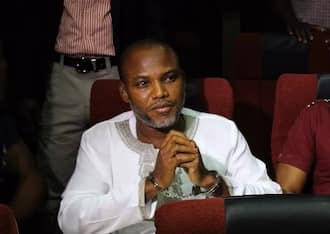Nnamdi Kanu in court for trial