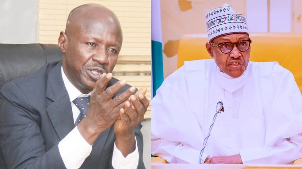 Minister reveals why ex-EFCC Chairman Magu is still on till on FG's Payroll