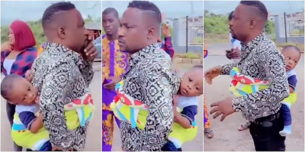 Actor Segun Ogungbe and his youngest son