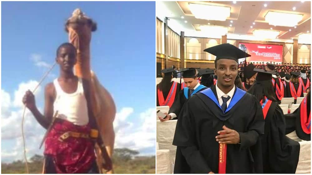 Boy who used to lead camel around makes it, graduates from university